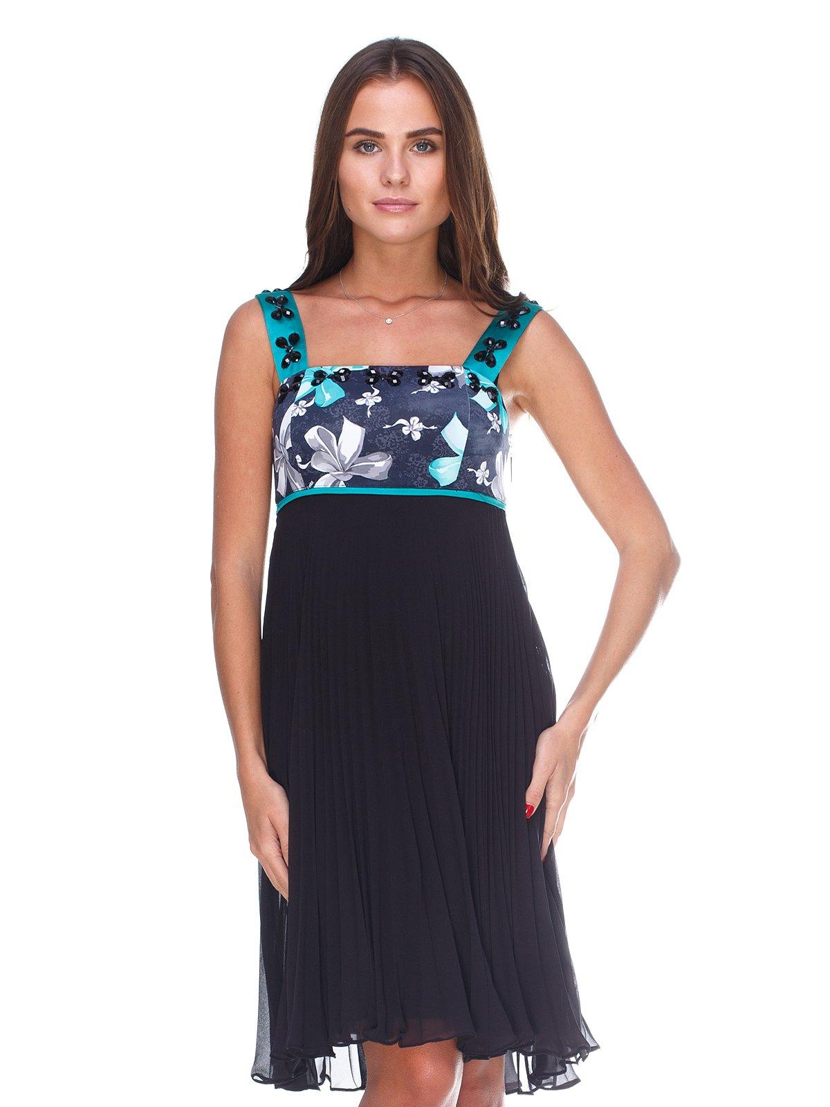 Сукня чорна з принтом | 2590931