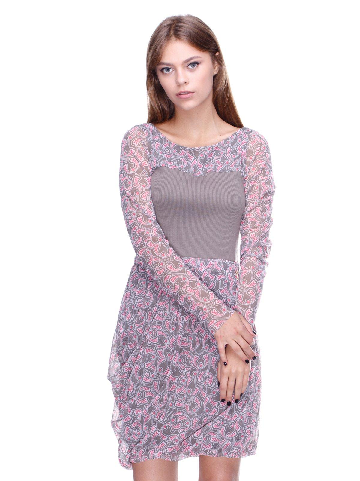 Платье серое в принт   2659859