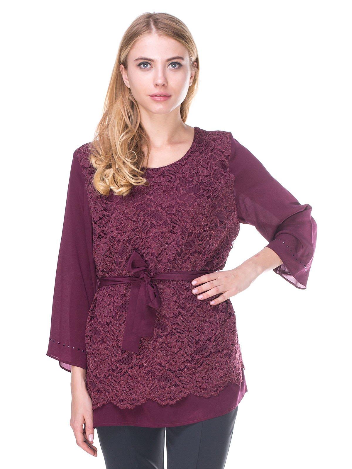 Блуза бордовая | 2640517