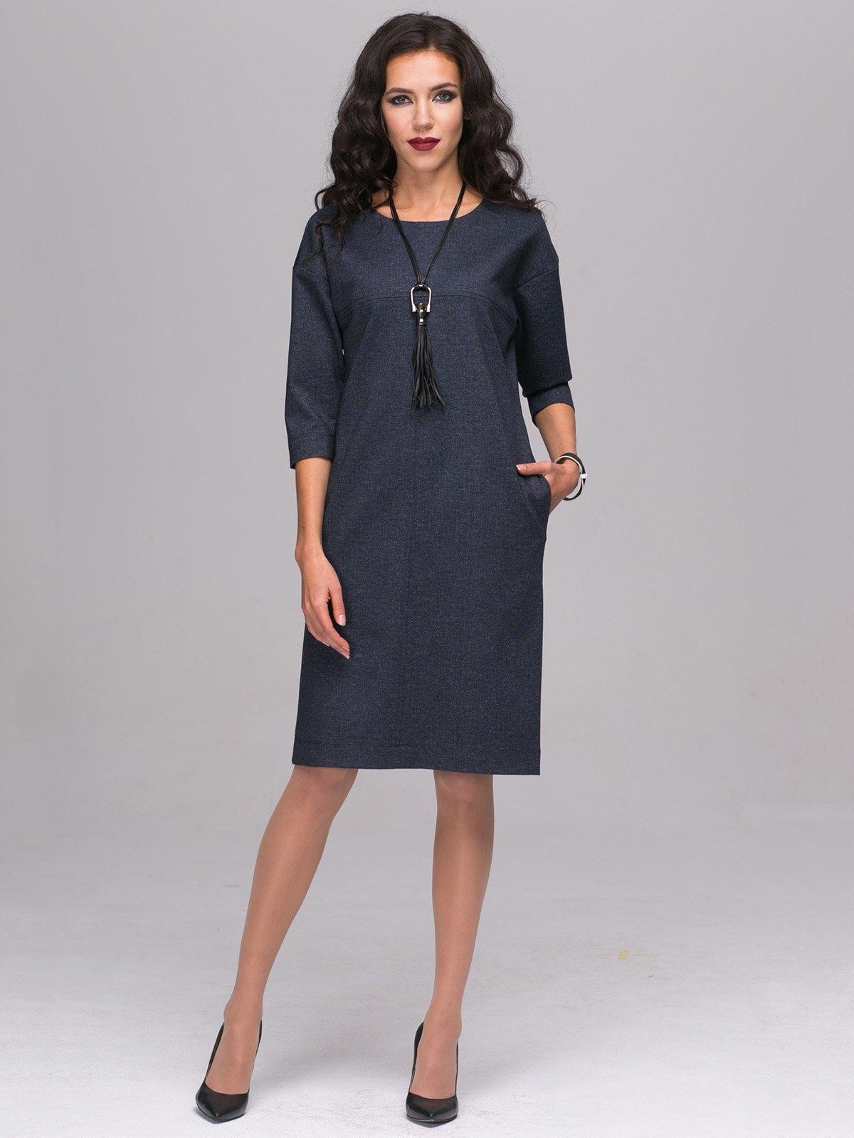 Платье темно-синее | 2689652