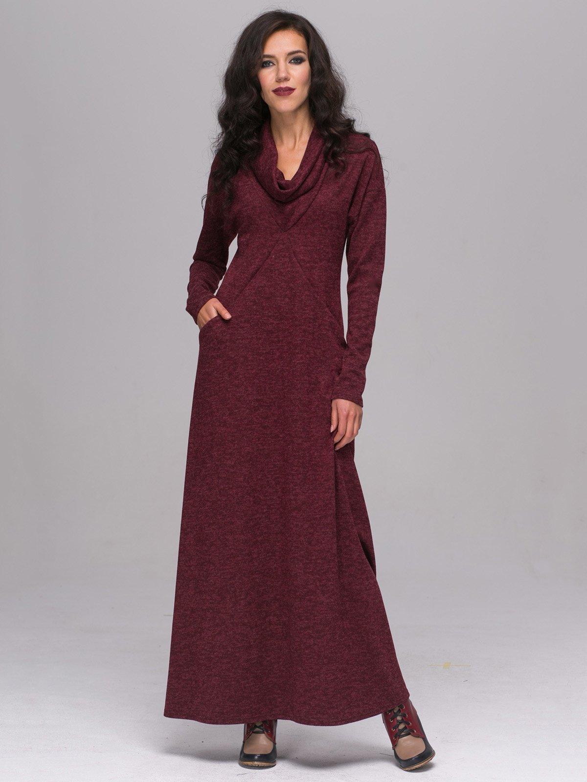 Платье бордовое | 2689689