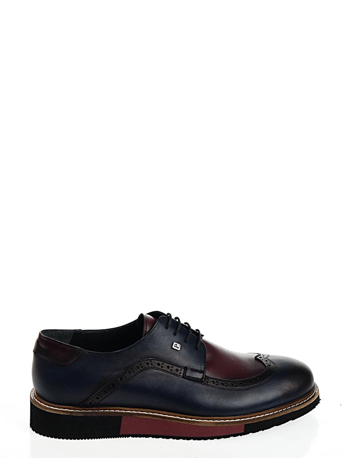 Туфли сине-бордовые   2103016