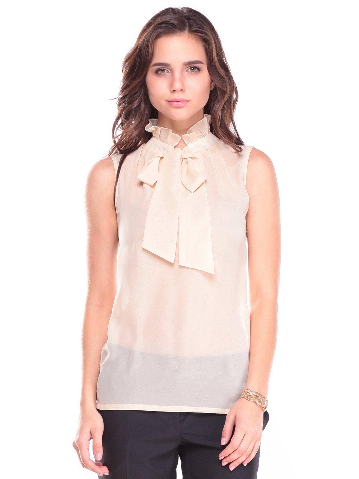 Блуза бежево-розового цвета | 2700823 | фото 4