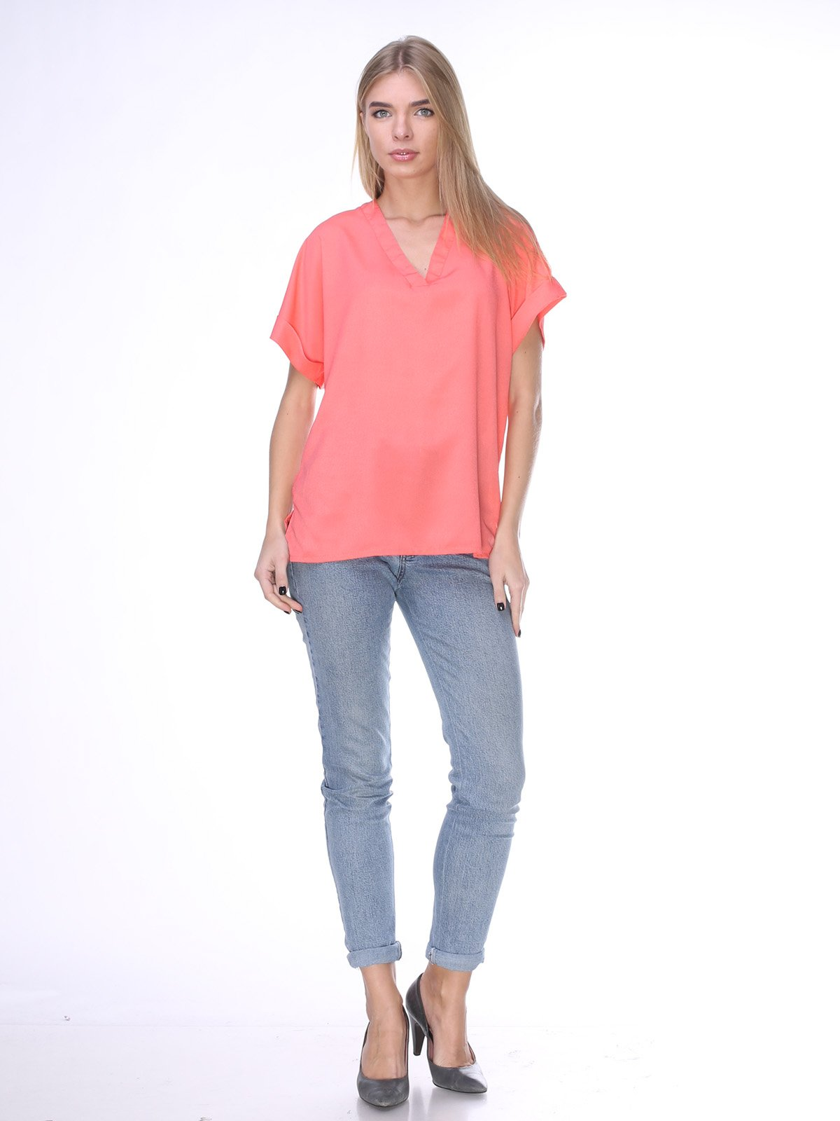 Блуза коралловая   2320835