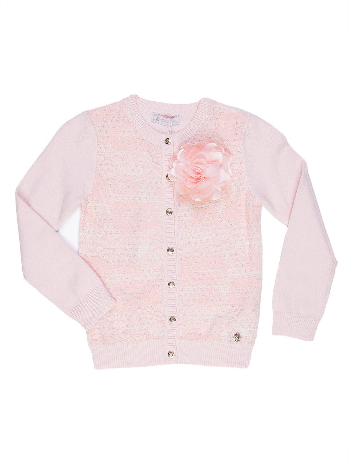 Кардиган розовый с декором   2733015