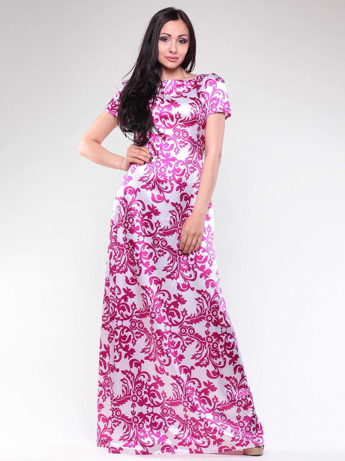 Платье белое с принтом | 2740209