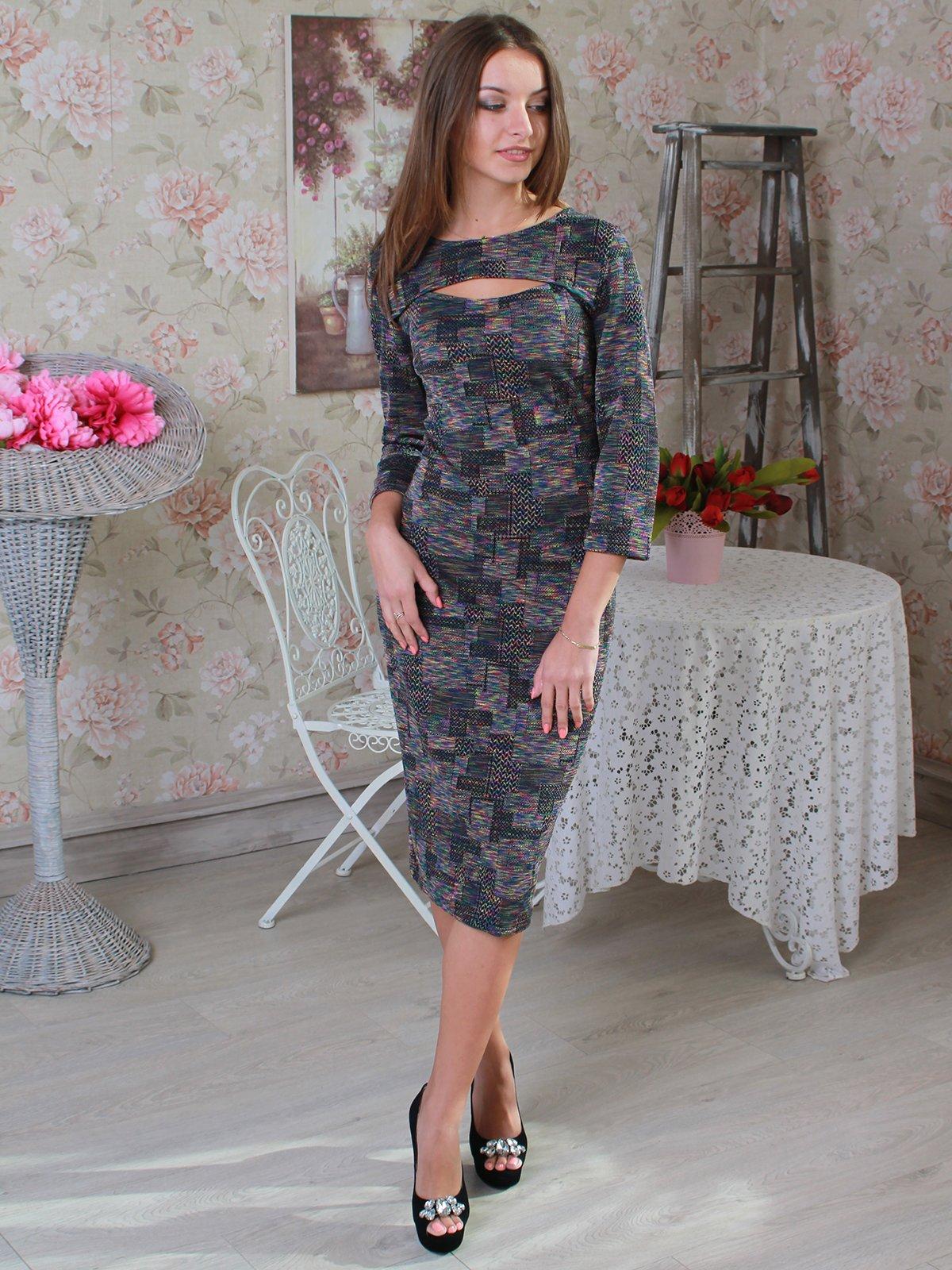Платье абстрактной расцветки | 2740412