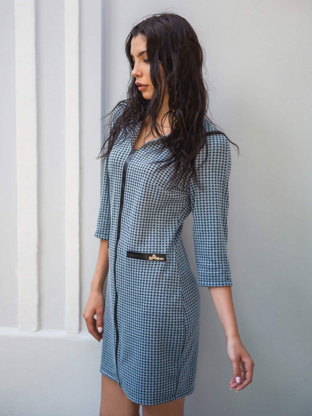 Платье бирюзовое с принтом | 2742022 | фото 2