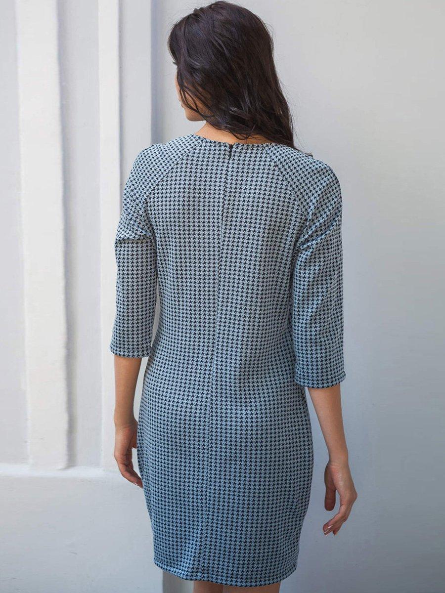 Платье бирюзовое с принтом | 2742022 | фото 3