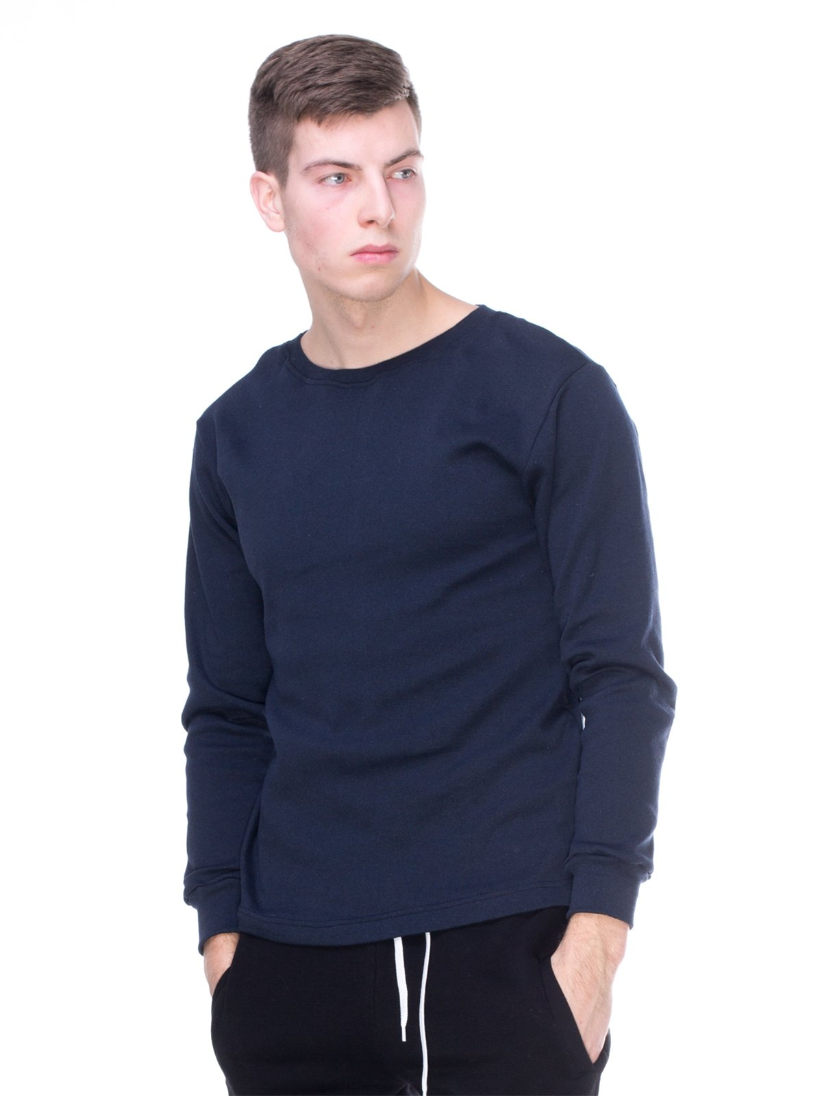 Джемпер темно-синий с начесом | 2750194
