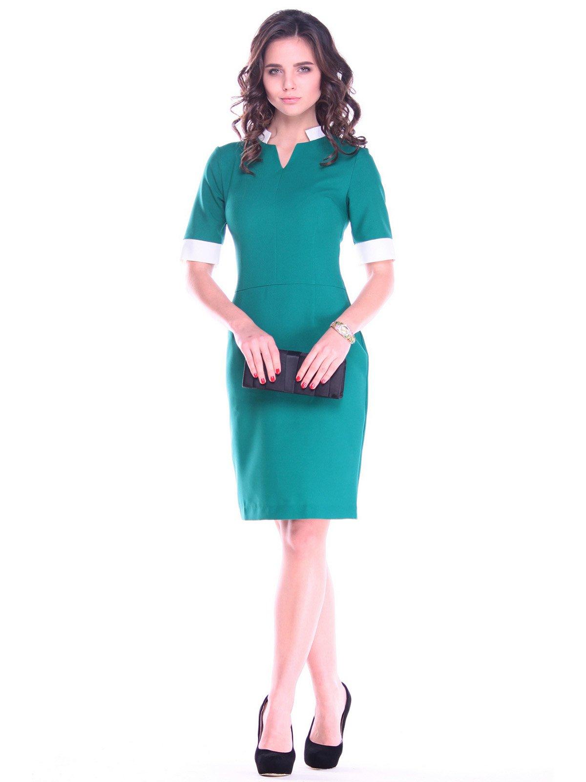 Сукня смарагдово-молочна | 2753945