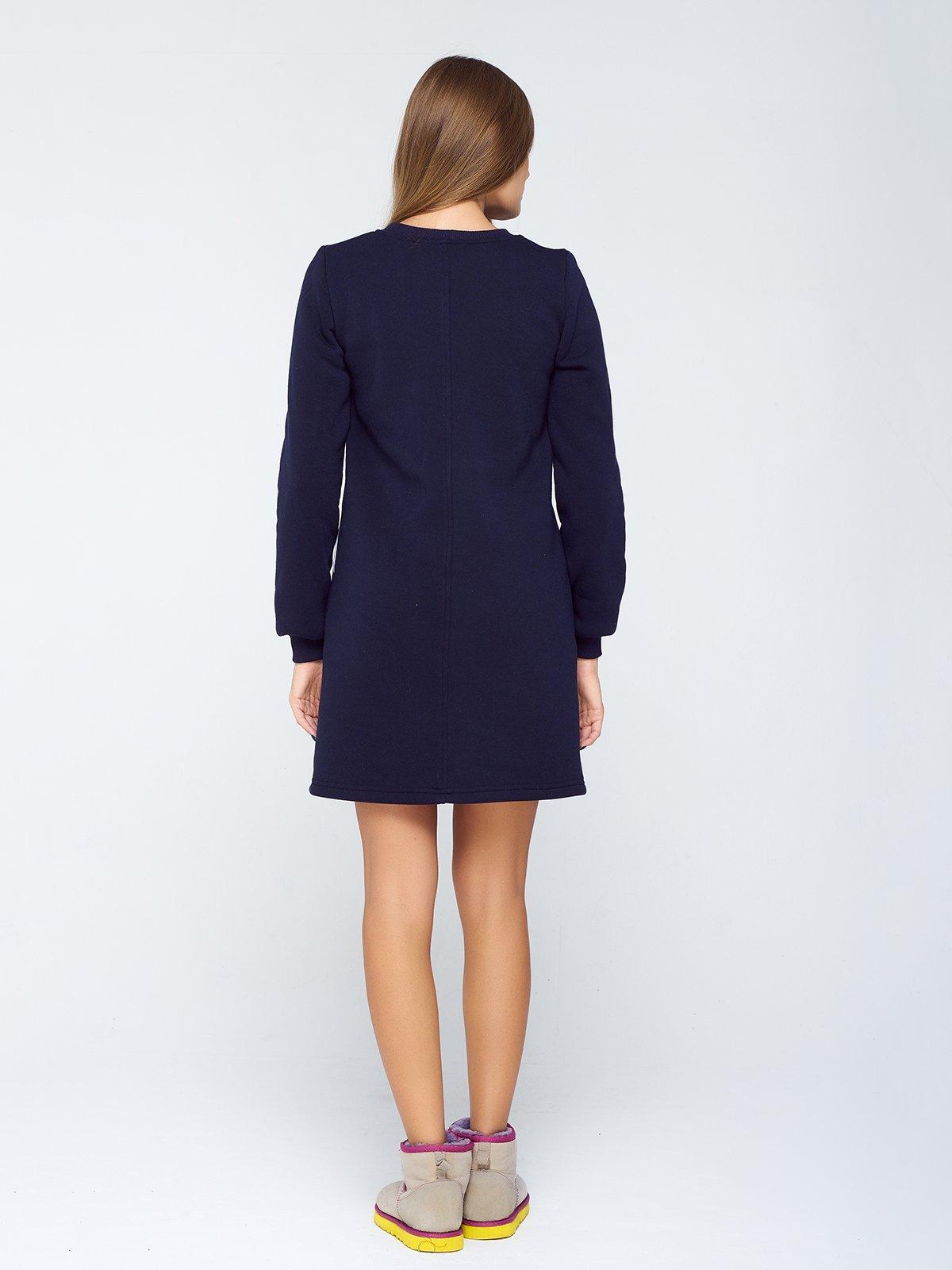 Сукня темно-синя з принтом | 2755530 | фото 2