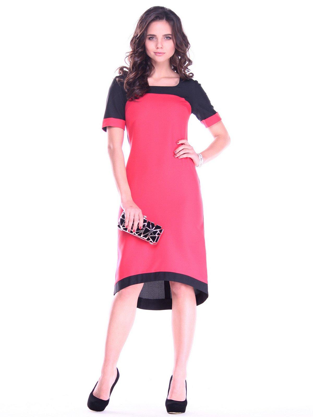 Платье кораллово-черного цвета | 2757800