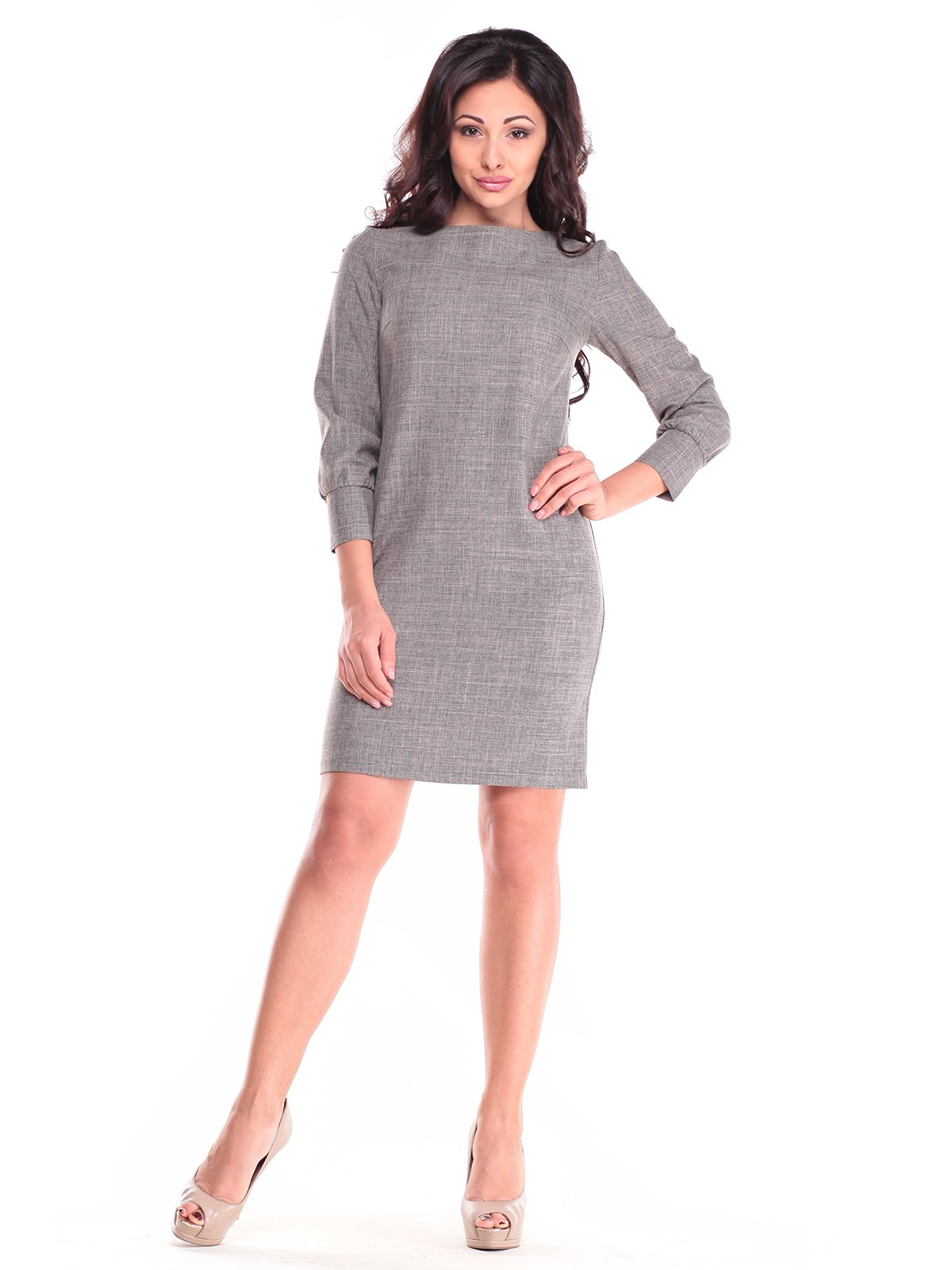Платье цвета бежевый хаки | 2741481