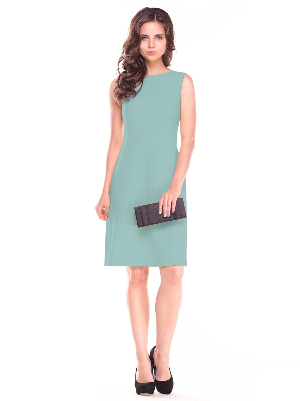 Платье-сарафан оливкового цвета | 2522825
