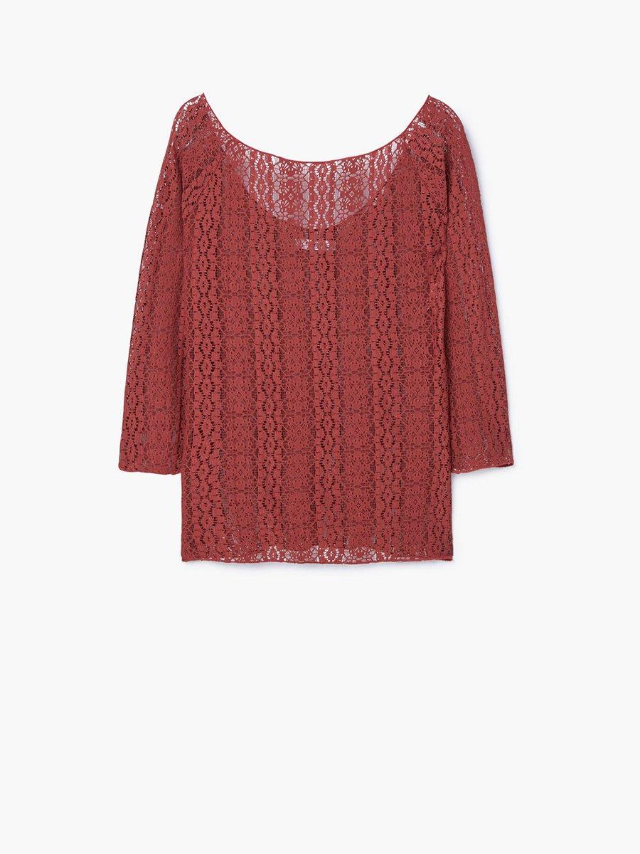 Блуза бордова | 2722797