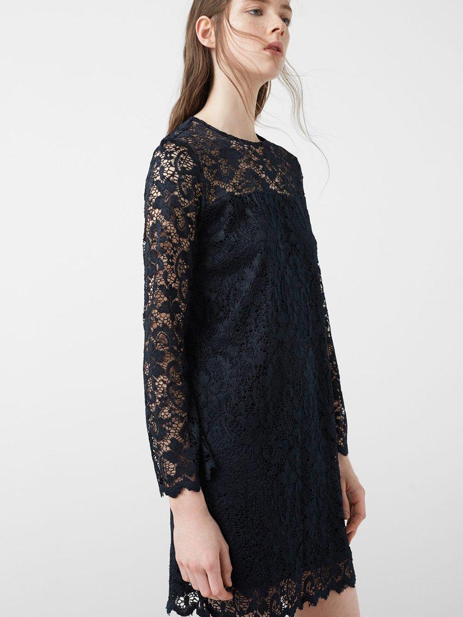 Платье темно-синее ажурное | 2722923 | фото 2