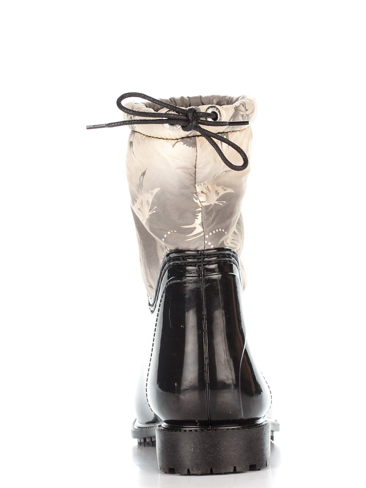 Сапоги черные с принтом | 2778870 | фото 3