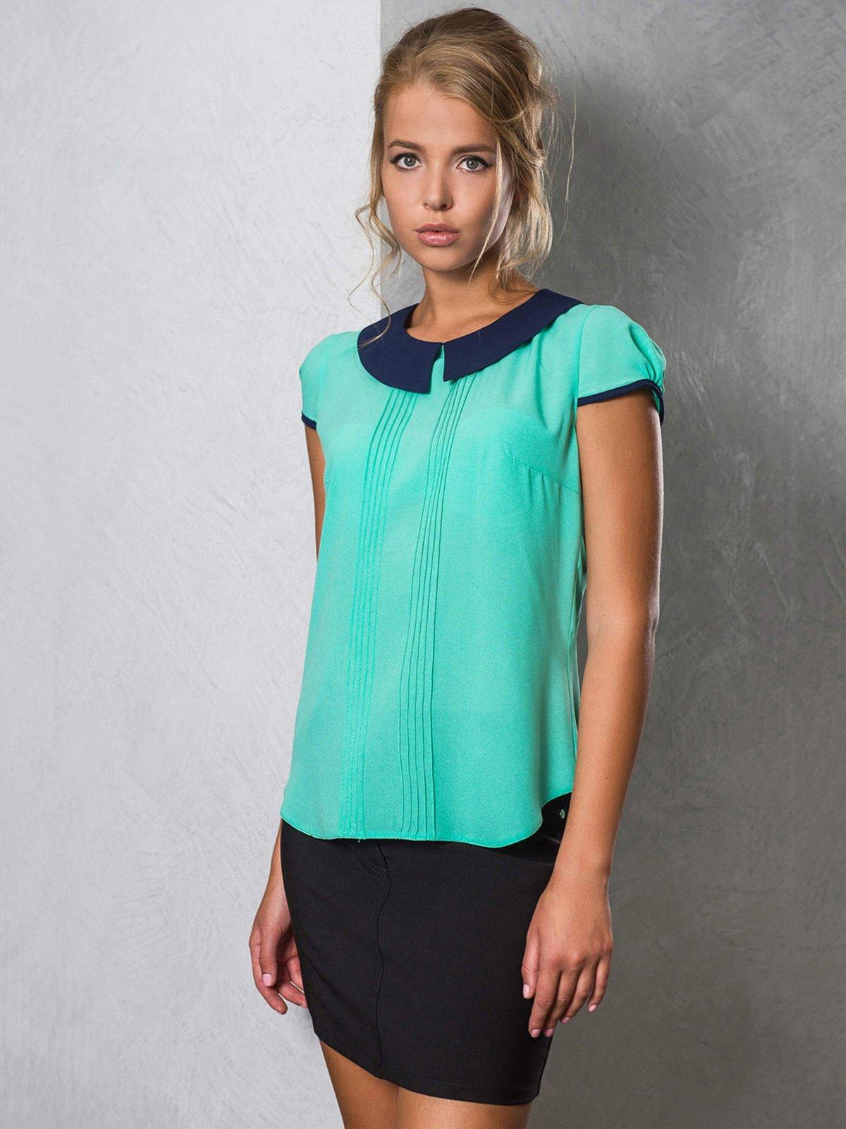 Блуза бирюзовая   2789324