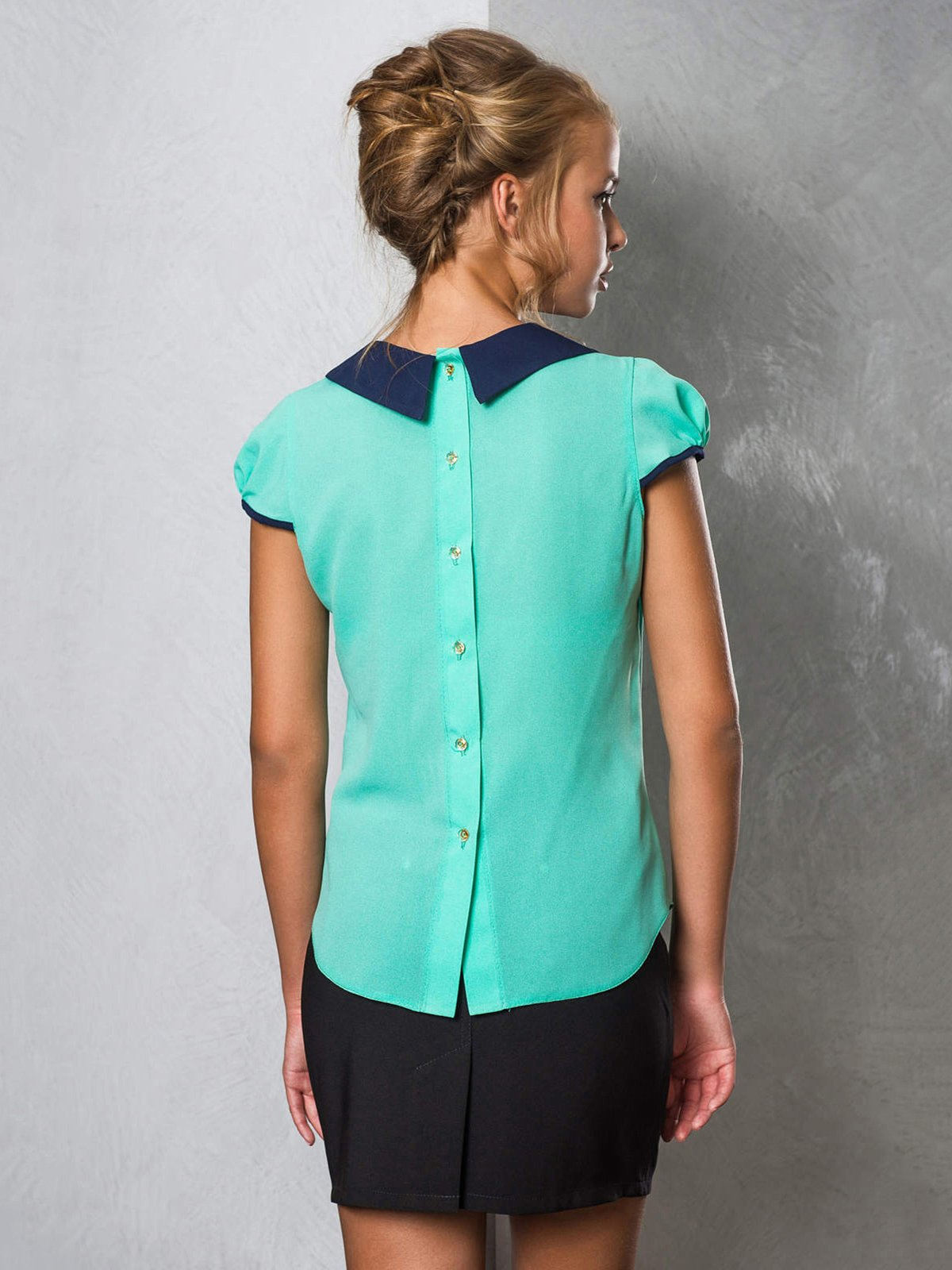 Блуза бирюзовая   2789324   фото 2