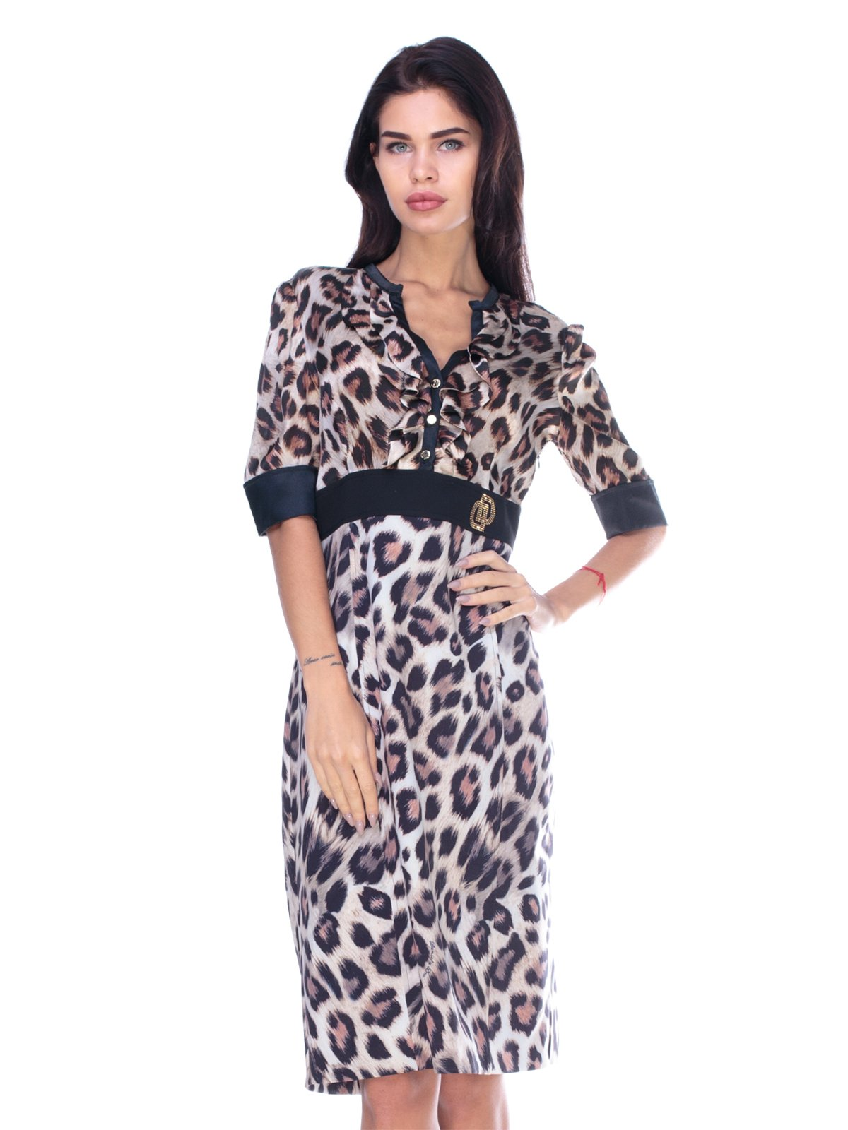 Платье анималистической расцветки | 2787012