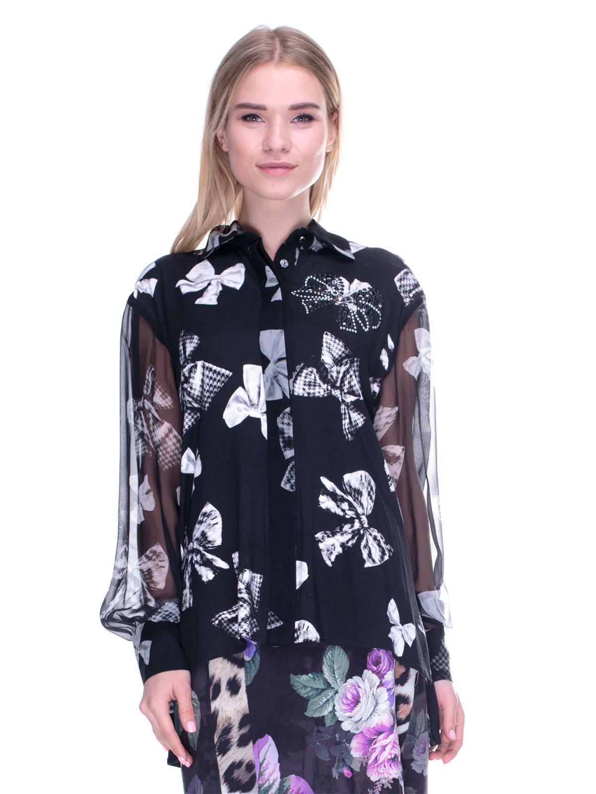 Блуза чорна в принт   2787030
