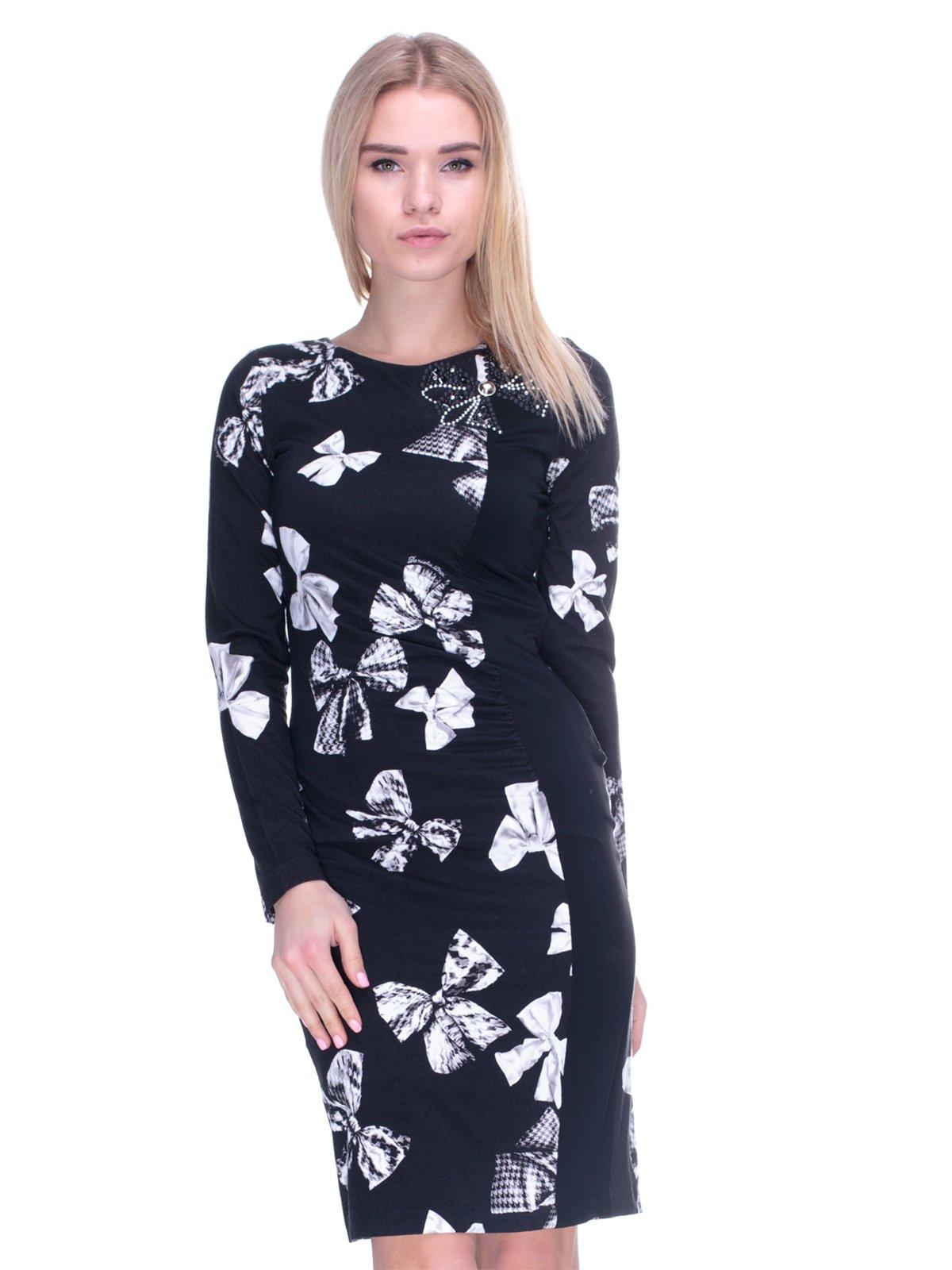 Платье черное в принт   2787022