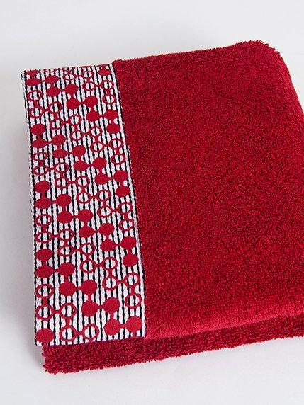 Рушник махровий червоний (50х90 см) | 2331584