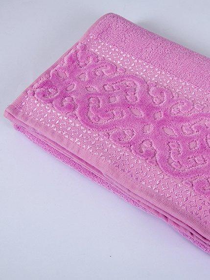 Рушник махровий рожевий (70х140 см) | 2331621