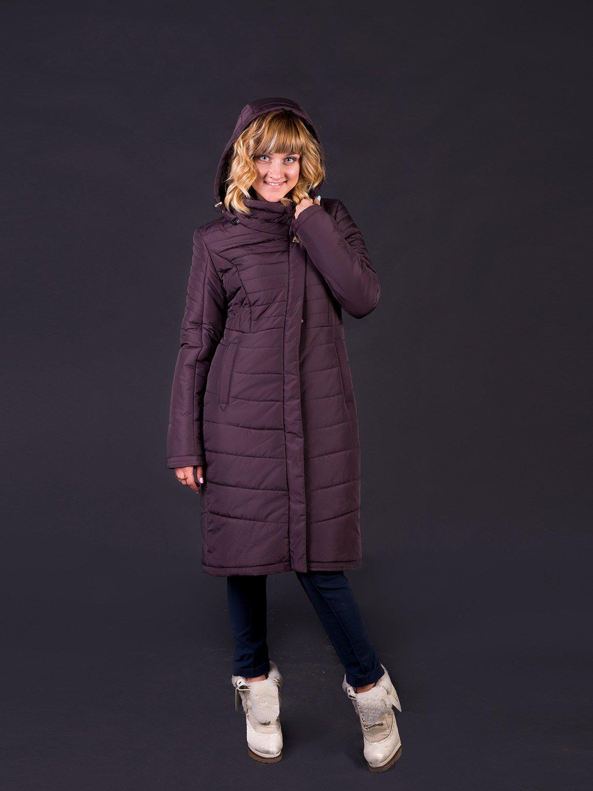 Пальто баклажанового кольору   2798040