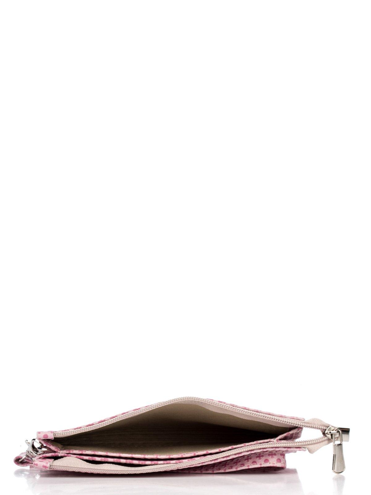 Клатч розовый в принт | 2794672 | фото 4