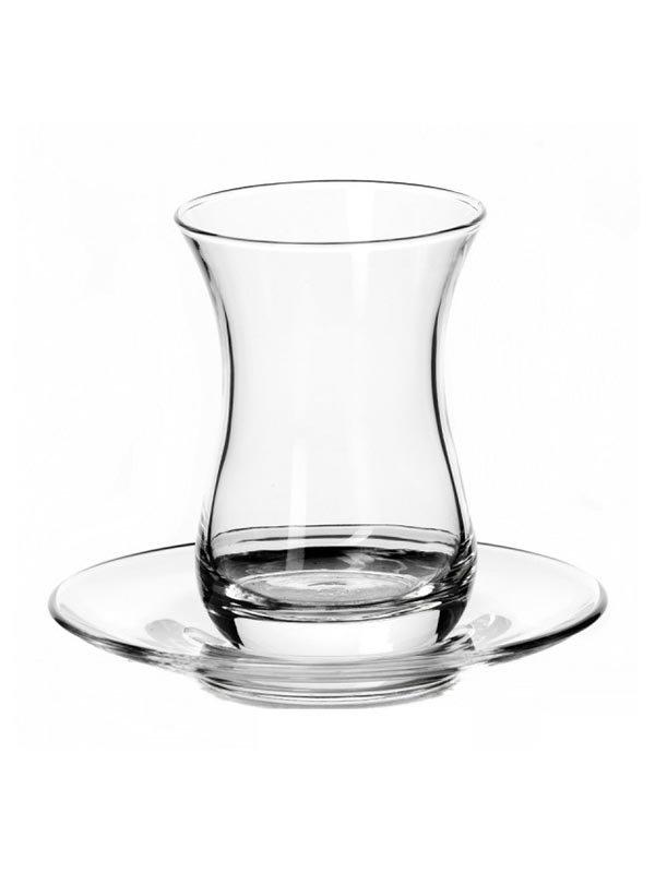 Набір склянок з блюдцями (6 шт) | 2813798