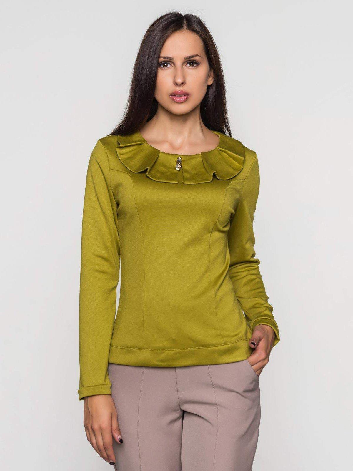 Блуза оливкового цвета   2789345