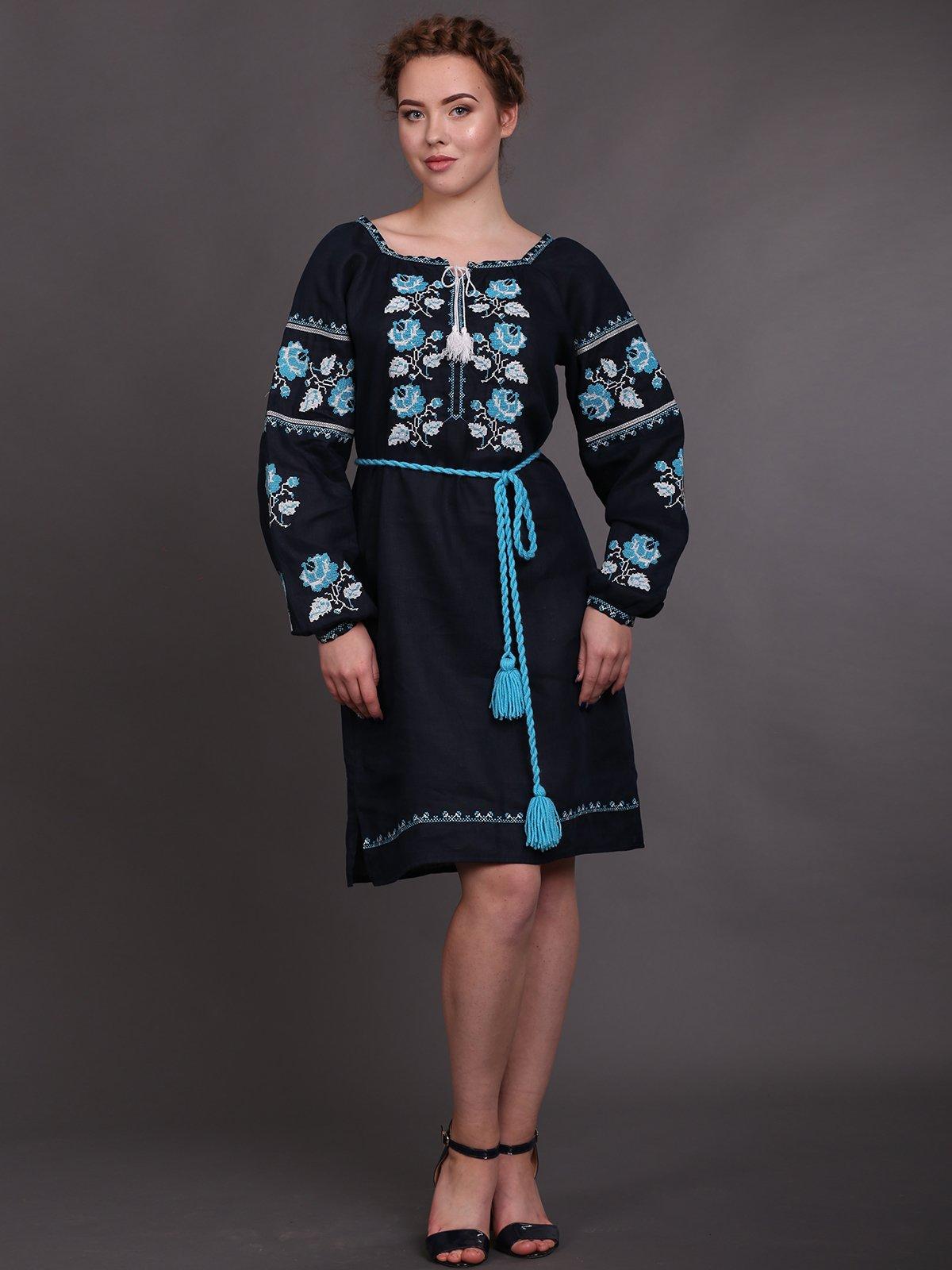 Платье темно-синее | 2827222