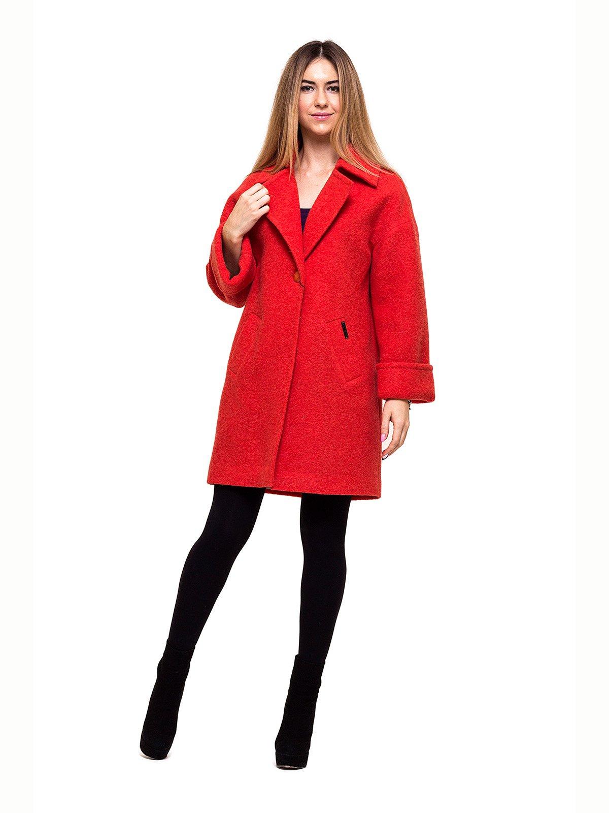 Пальто красное   2837192   фото 4