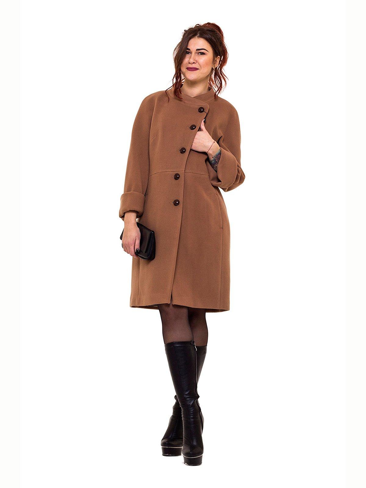 Пальто темно-бежевое | 2837210 | фото 3