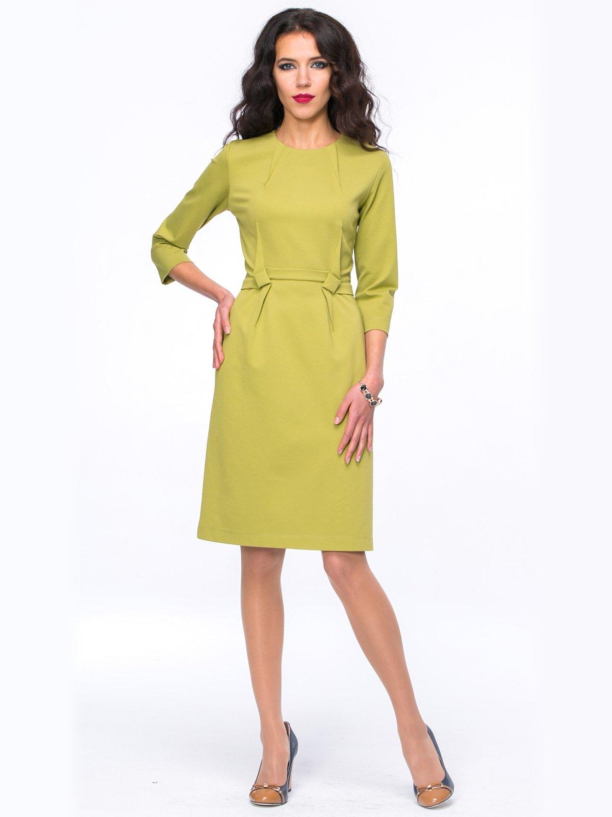 Платье оливкового цвета | 2848877