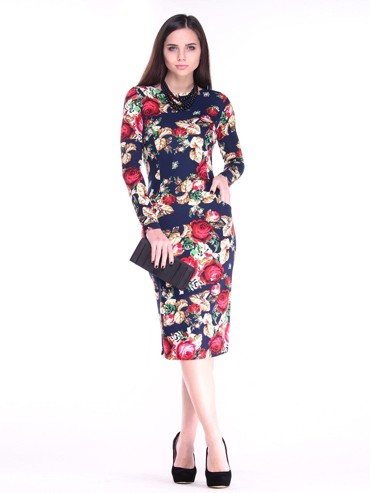 Платье в цветочный принт | 2849570
