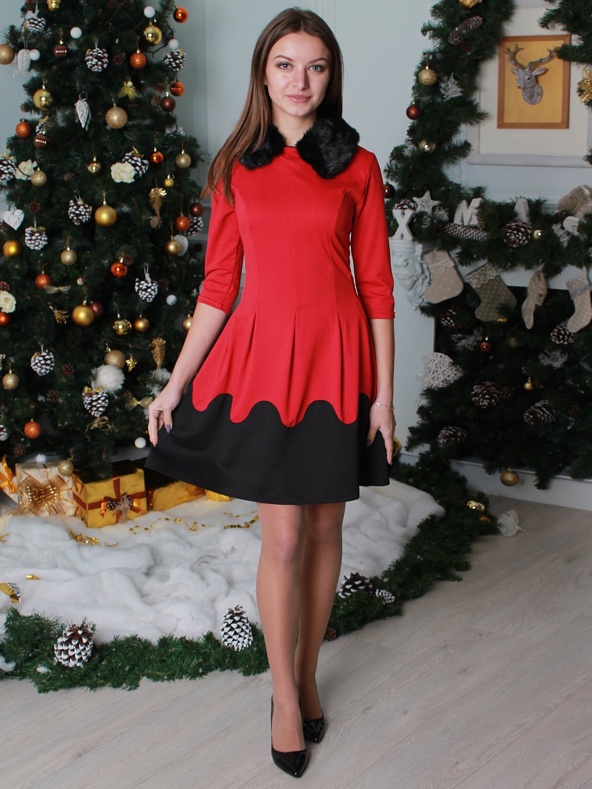 Платье красное | 2851774