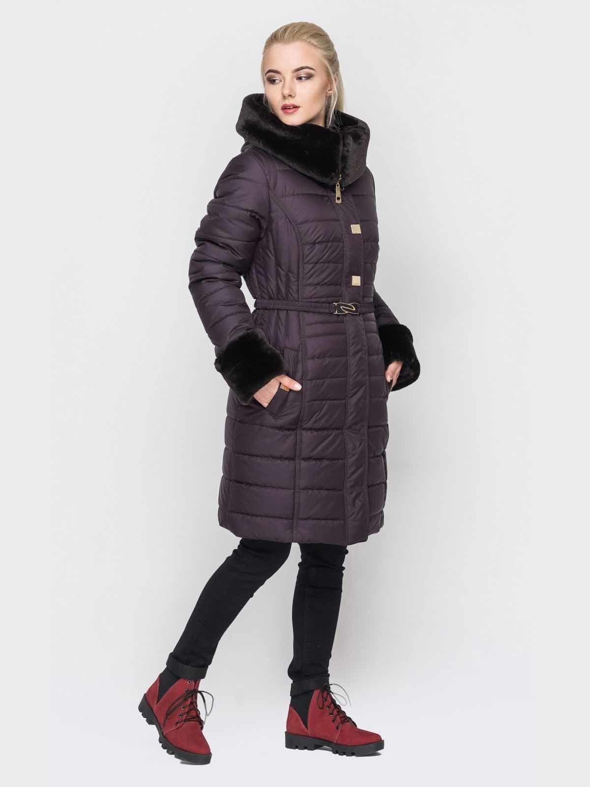 Пальто фиолетовое | 2851704 | фото 2