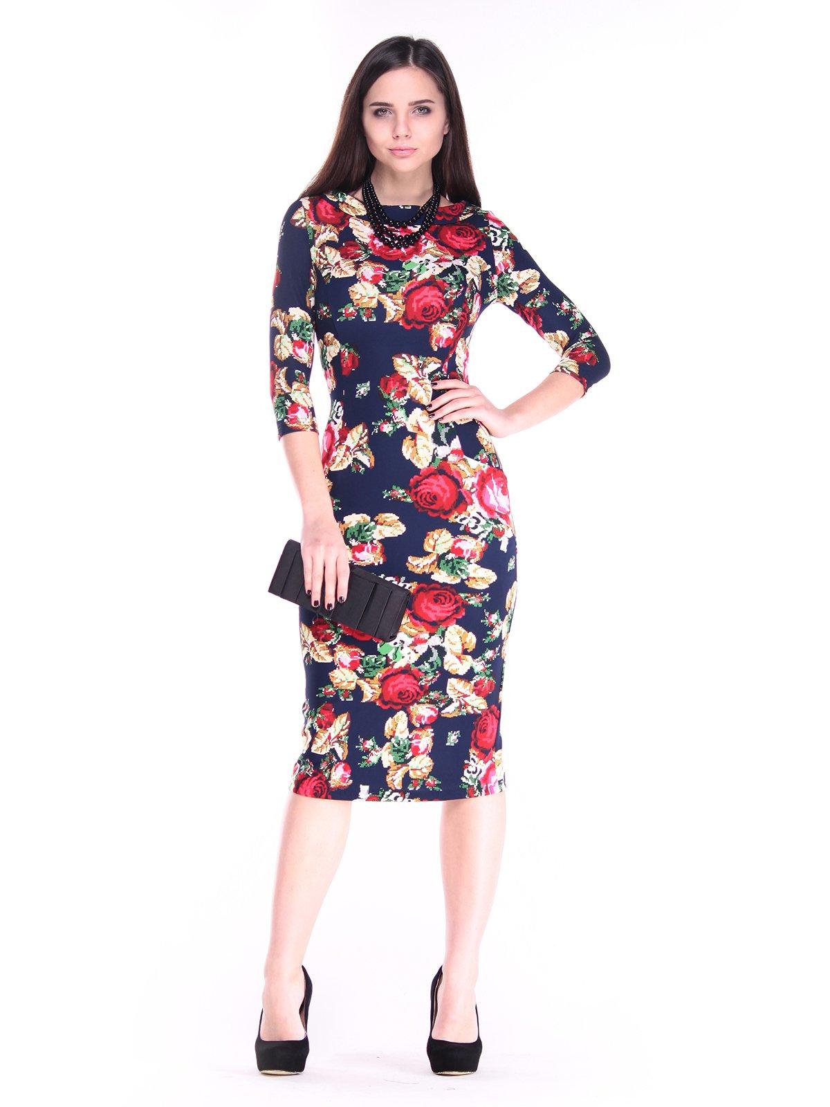 Платье в цветочный принт   2849558
