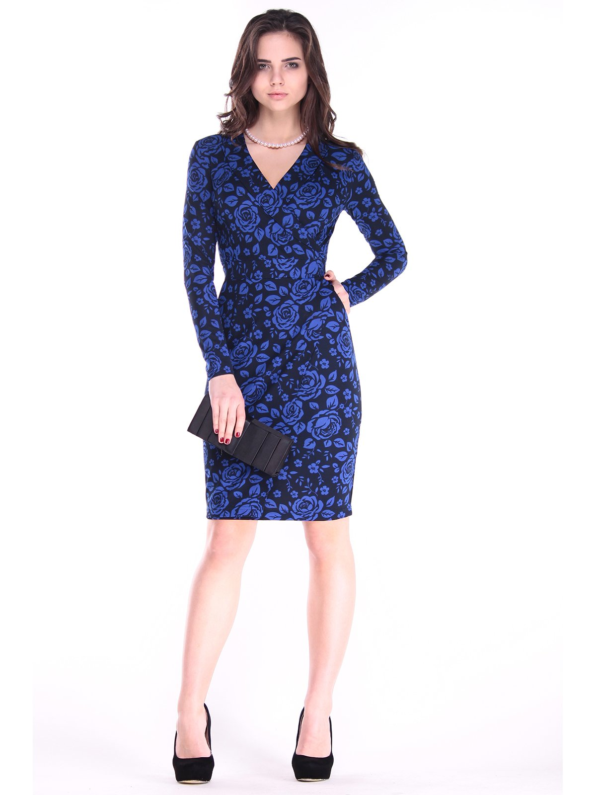Платье в цветочный принт | 2861643