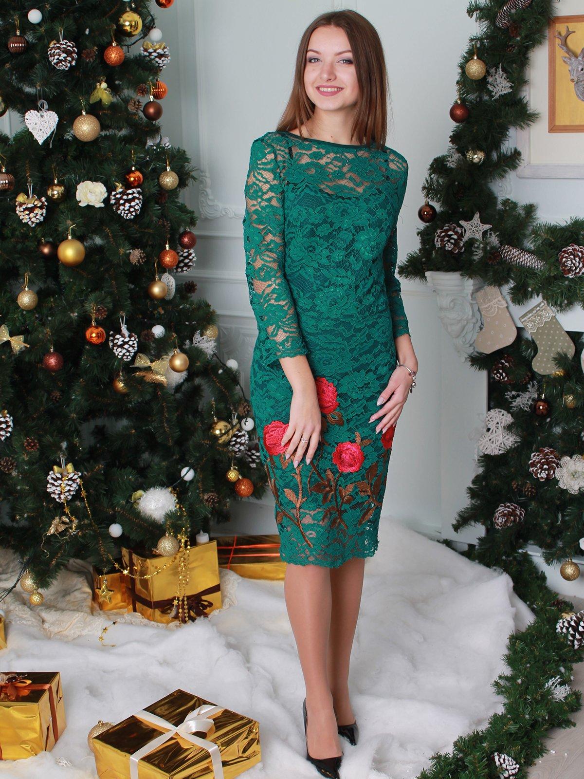 Платье зеленое | 2865847