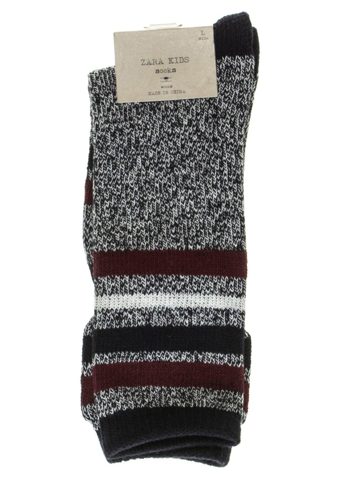 Носки трехцветные с полосками | 2785877