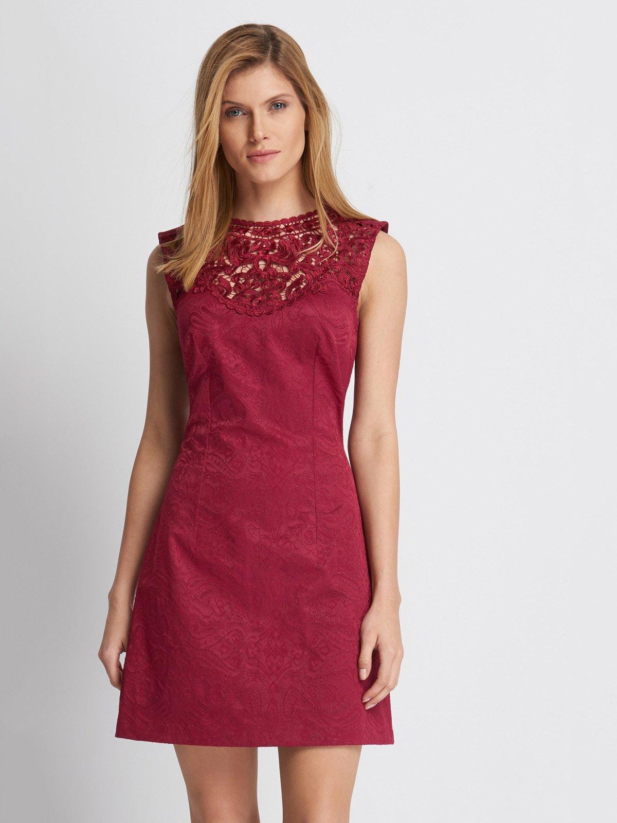 Платье бордовое | 2888429
