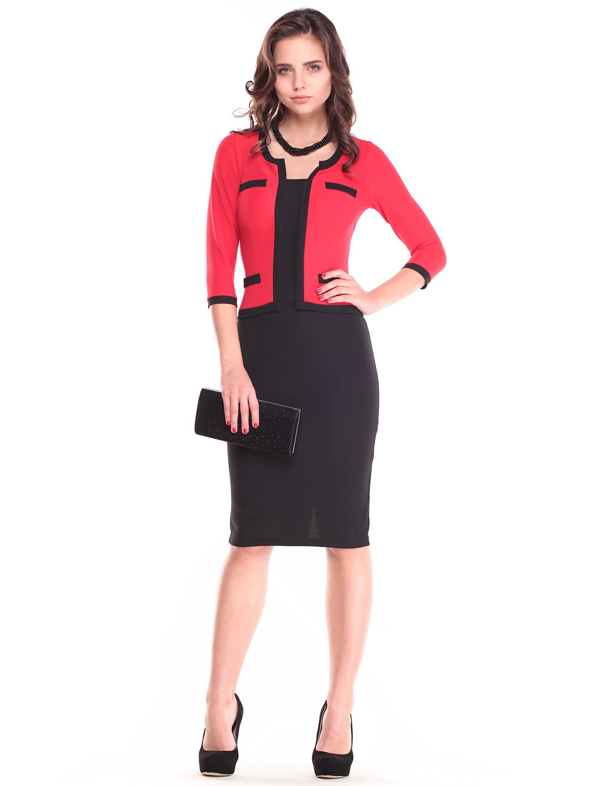 Платье черно-красное | 2753920