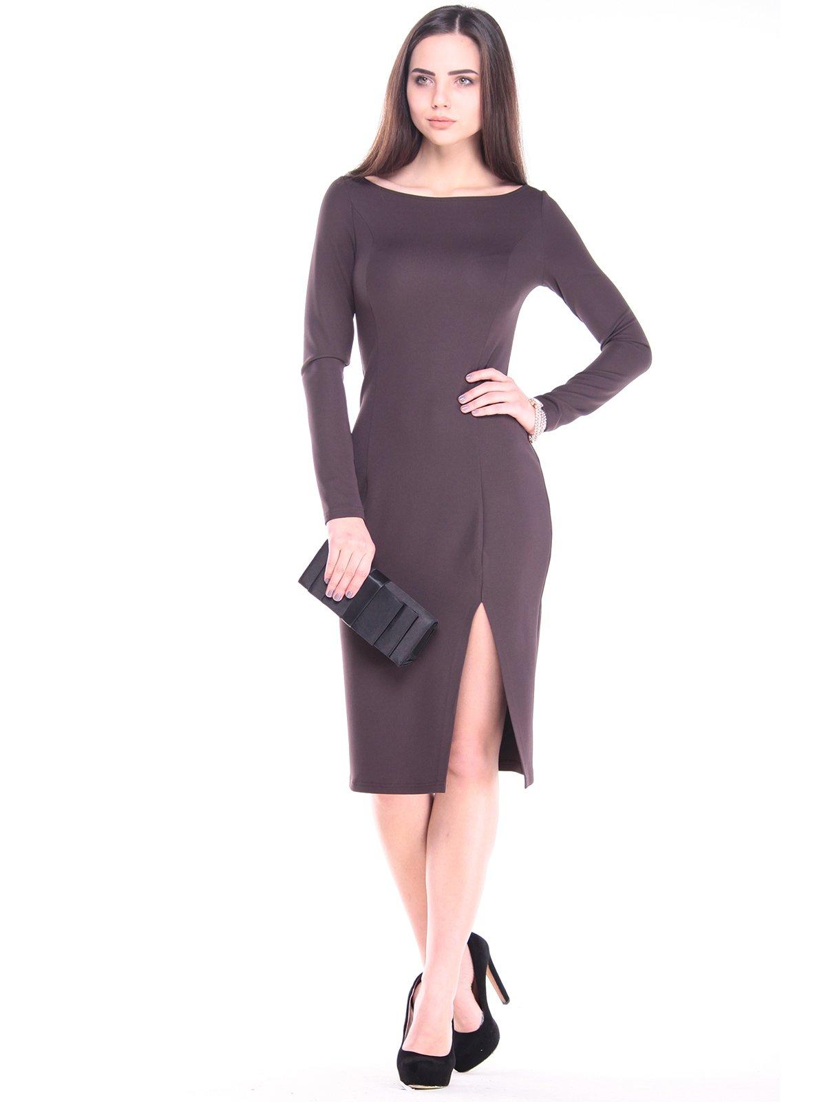 Платье шоколадное | 2794265