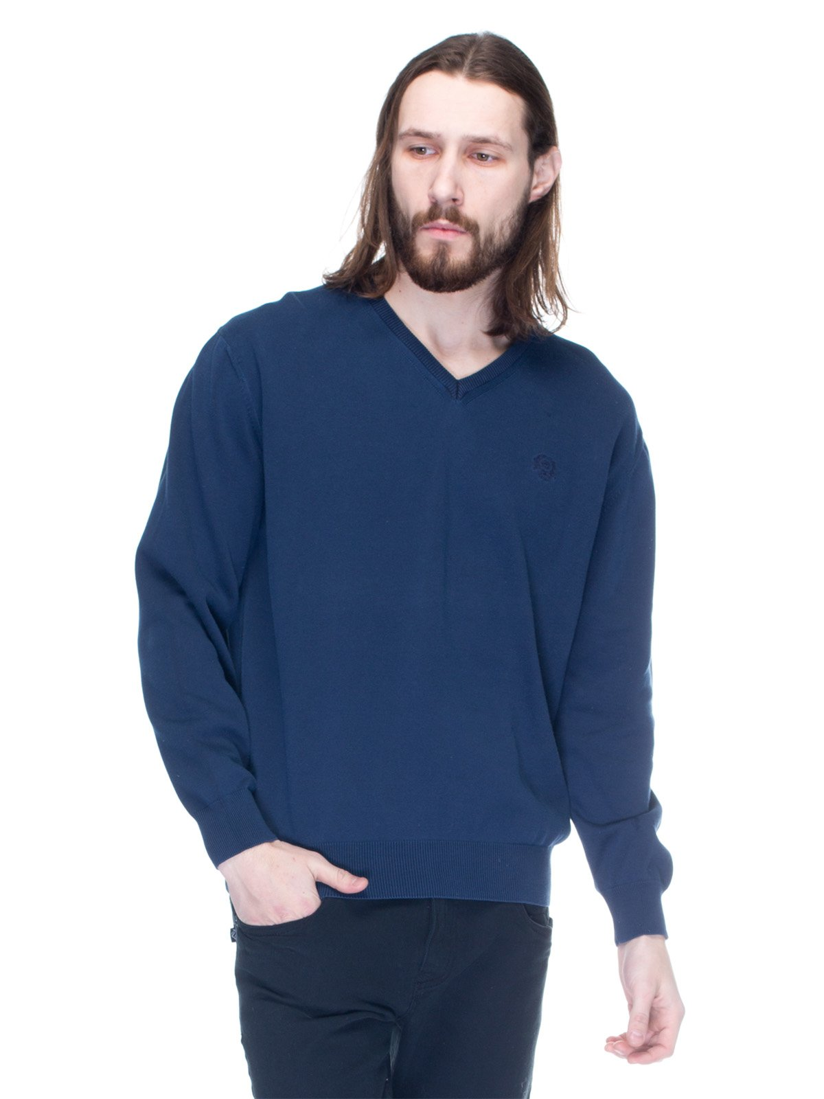 Пуловер синій | 1353708