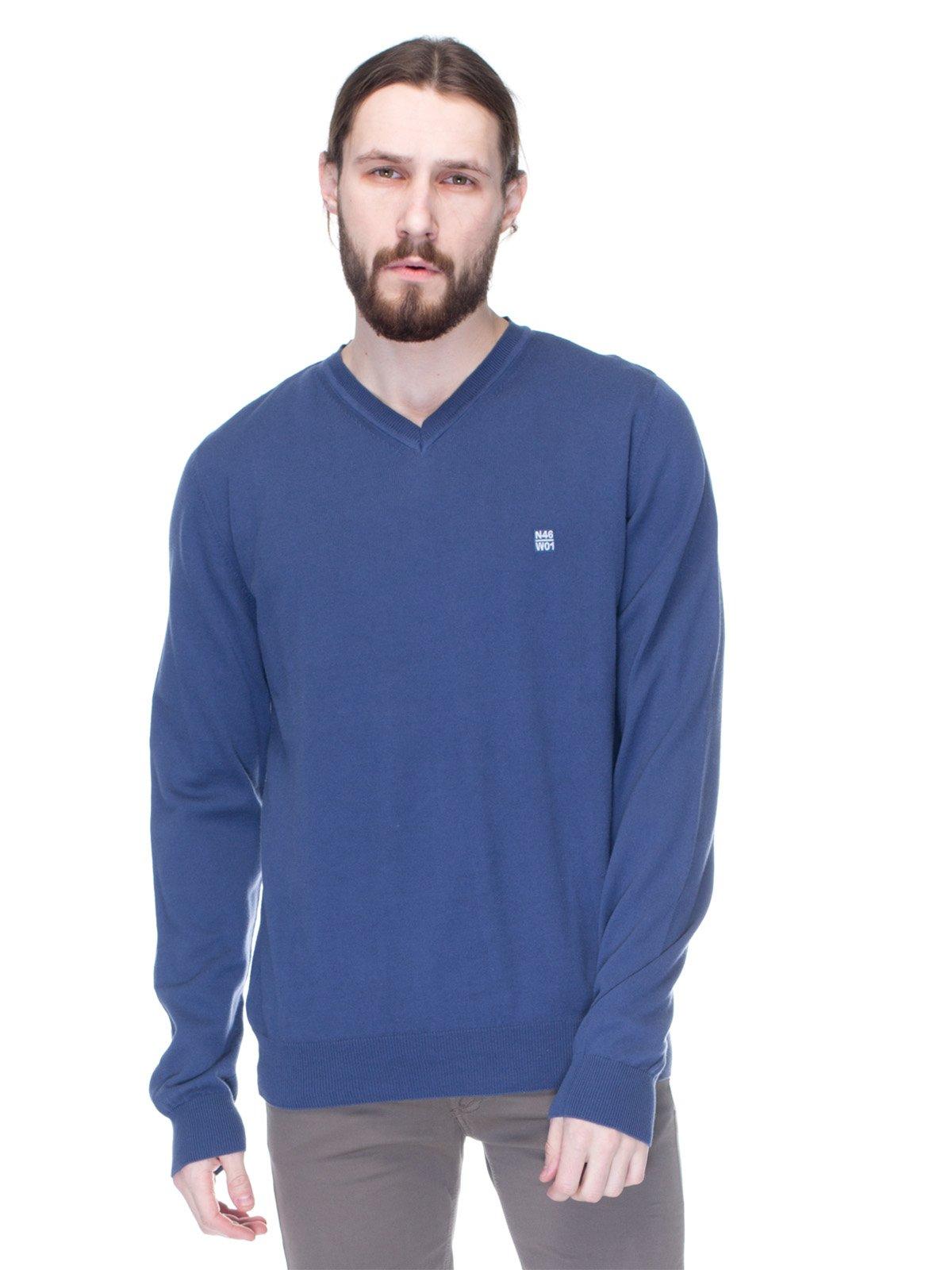 Пуловер синій | 1353694
