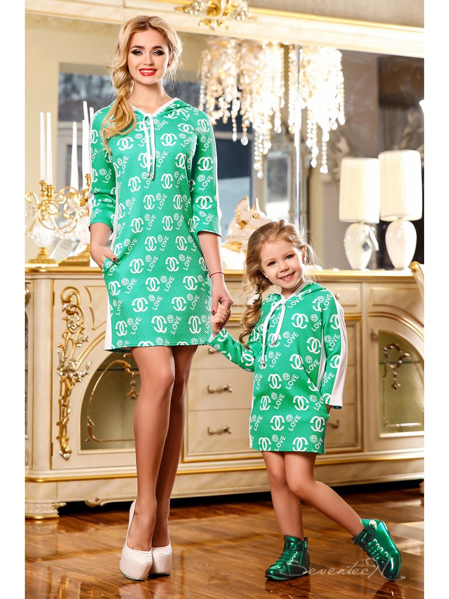 Сукня зелена в принт   2171991
